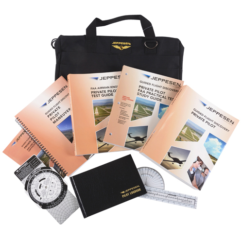 STUDENT KIT/Private Pilot Part 61. Kit includes: Student flight bag, Pilot logbook, Student Flight Computer (CSG), Guided Flight Discovery (GFD) Private Pilot manual, Guided Flight Discovery (GFD) maneuvers manual, Private Pilot Knowledge test guide,