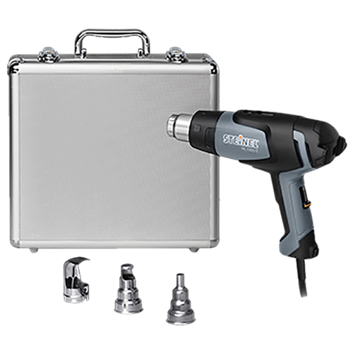 CLASSIC KIT/Includes: HL1920E heat gun, 14 mm reflector nozzle, 39 mm reflector nozzle, 9 mm reduction nozzle, catalog and silver case.