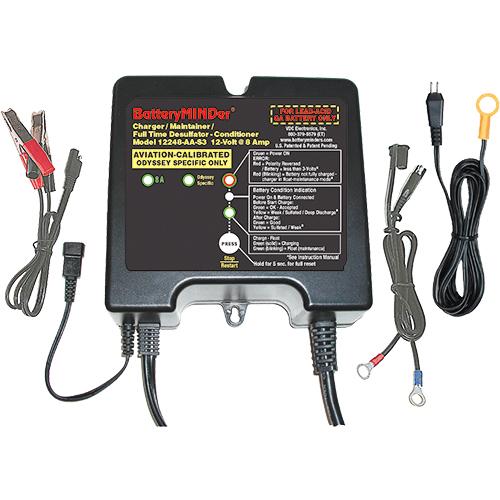 BatteryMINDer Aviation Charger - Maintainer - Desulfator / 12V / Odyssey Specific