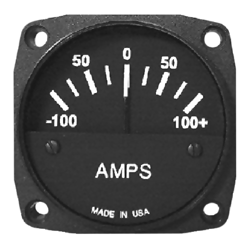 UMA Ammeter | 2-1/4 in, air-core, 100/0/100 with Shunt