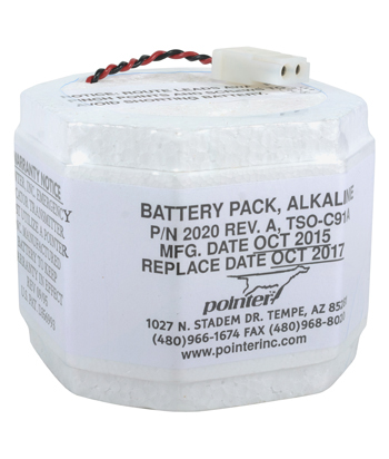 2 YR ALKALINE ELT BATTERY PACK