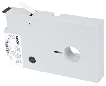 Shrink Tube Cartridge / Black on White / .188 in