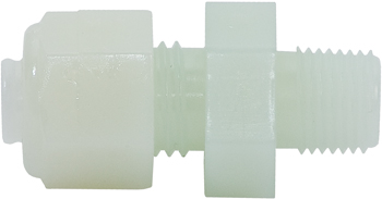 NYLO-Seal Male Connector | For 1/4in Tubing, 1/8in Pipe Thread