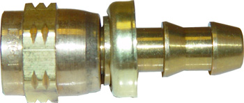 Pitot Static Test Hose Brass Fitting | #4 AN, 0.25in Barb, 7/16-20 Thread
