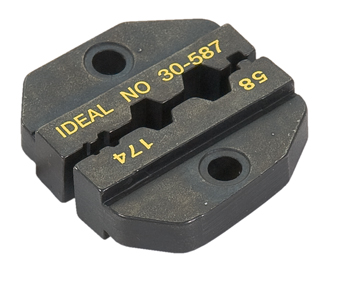 DIE SET/For RG-58, RG-174, RG8218 for CRIMPMASTER Crimp Tool Frame 30-506. Hex hole sizes: .213 in., .178 in., .068 in. Interchangeable dies.