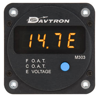 M303 Series Outside Air Temperature and Voltage Indicator | Round Mount
