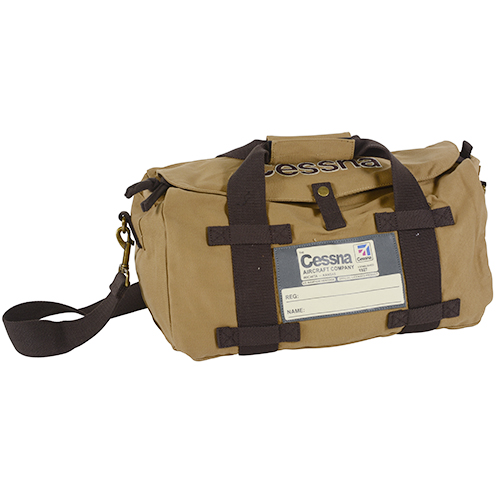 Cessna Stow Bag | Tan Cotton Twill