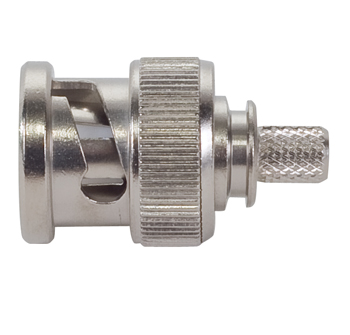 BNC Dual Crimp Plug Connector | RG 142, RG 142A, RG 142B