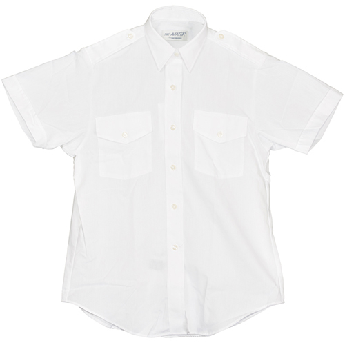 Aviator Dress Shirt | Ladies, Size 4, White, Short Sleeve