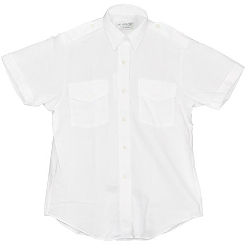 Aviator Dress Shirt | Ladies, Size 6, White, Short Sleeve