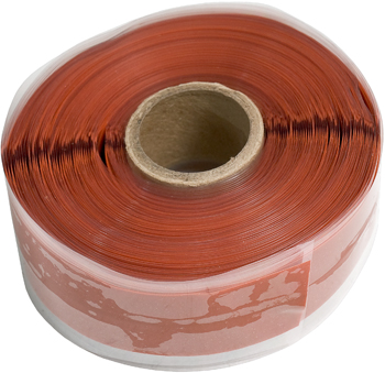 Silicone Fusion Tape | 1in x 36ft Roll, Red with Blue Center Stripe
