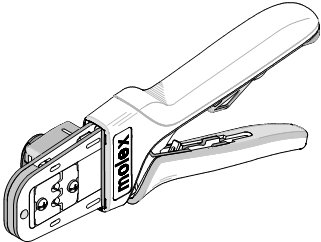 RATCHET HAND CRIMP TOOL/For use with standard 1.57mm pin and socket crimp terminals.