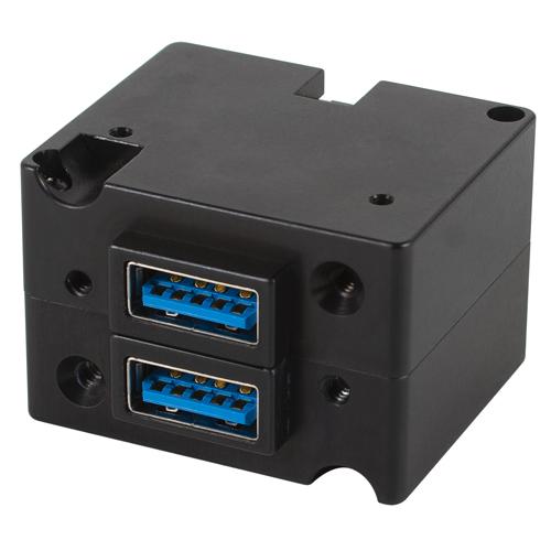 TA202 High Power USB Charging Port | Dual USB-A Connectors, Bottom Power Connector