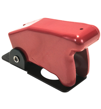 SWITCH GUARD/RED/1 HOLE MOUNT