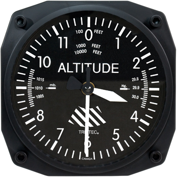 Altimeter Instrument Style Wall Clock | 6 inch, Quartz Movement