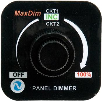 MaxDim Duo Dimmer Control Unit | 12-35V, 12.5A, Spade Terminals