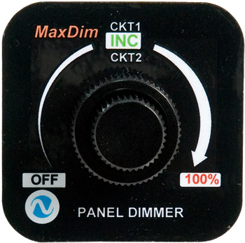 MaxDim Duo Dimmer Control Unit | 12-35V, 12.5A, Ring Terminals
