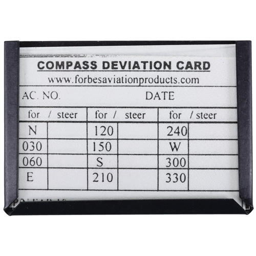 Compass Deviation Card | with Aluminum Holder