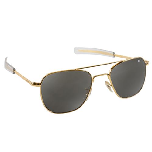 Original Pilot Sunglasses | Gold Frame, True Color Grey Lenses, Clear Bayonet, 52mm