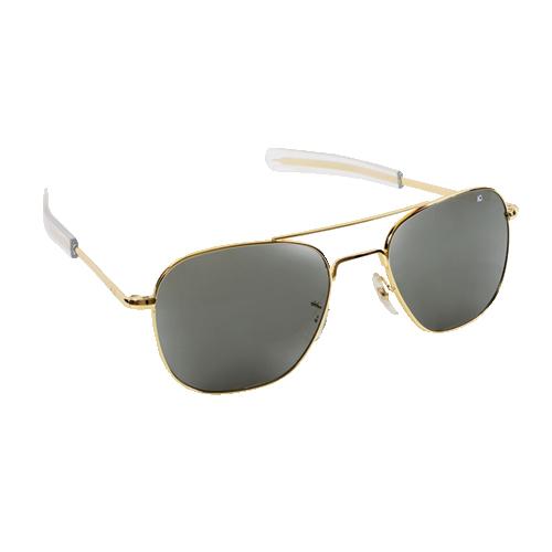 Original Pilot Sunglasses   Gold Frame, True Color Grey Lenses, Clear Bayonet, 55mm
