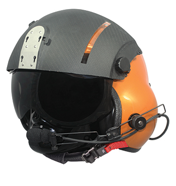 ASPIDA HELICOPTER HELMET/Size Regular, painted visor cover, clear and tinted, 300ohm, mic, comfort liner