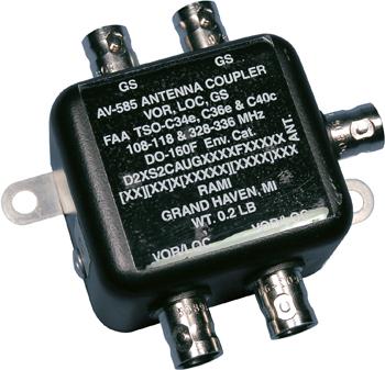 AV-585 Antenna diplexer/Splitter | 22 VOR/LOC & 2 GS outputs