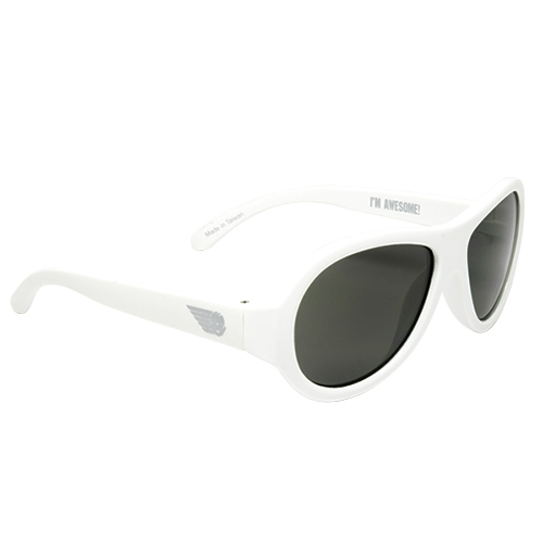 Babiators Sunglasses | Wicked White, Ages 0-3