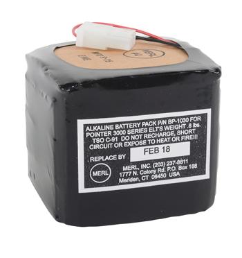 ELT BATTERY PACK/For use with POINTER 3000/3000-1 ELT's.