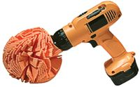 BUFF and POLISH BALL/6 round, orange, fits all drills and air tools.