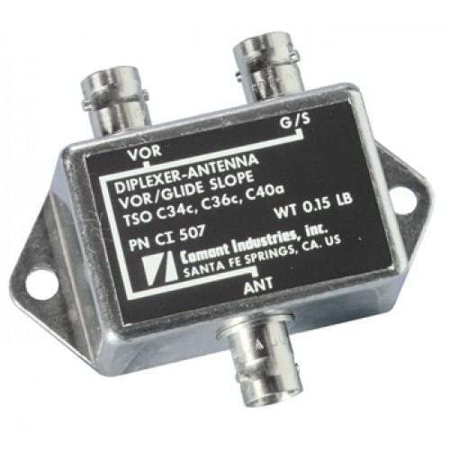 CI 507 VOR/GS Diplexer | 108 – 118 MHz & 329 – 335 MHz, BNC, 50Ω