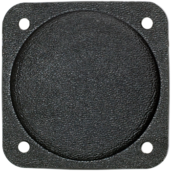 COVER PLATE/2 1/4 diameter. Black plastic. Fire retardant.