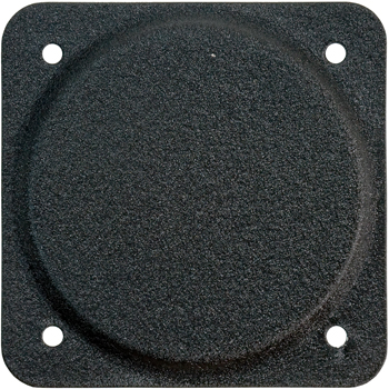 COVER PLATE/3 1/8 diameter. Black aluminum.