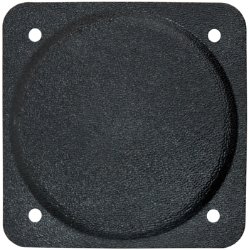 COVER PLATE/3 1/8 diameter. Black plastic. Fire retardant.