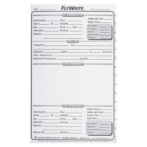 FlyWrite Cockpit Writing Pad   5x8 Inch, 50 Page