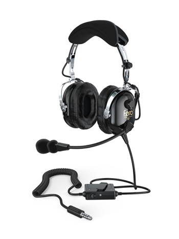 Faro™ G2 ANR Helicopter Headset | Black, Helicopter Plugs