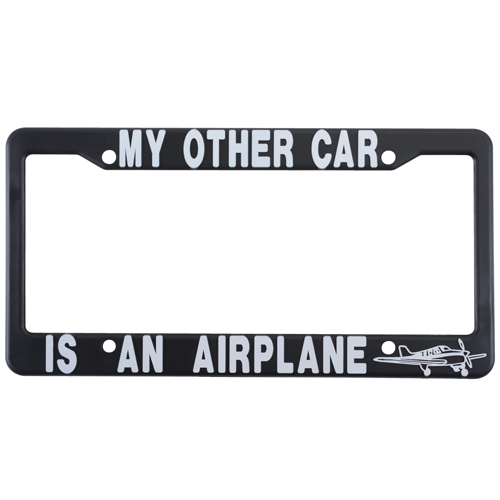 "License Plate Frame | ""MY OTHER CAR IS AN AIRPLANE"""