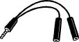 HELICOPTER HEADSET ADAPTER CABLE/PJ068 and PJ055 plugs to U-174/U plugs. 9 inches in length.
