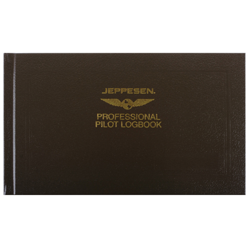 Professional Pilot Logbook | Brown, Textured Hard Cover