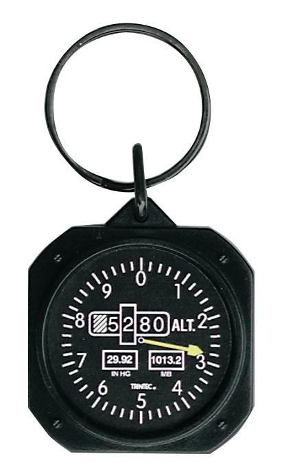 Altimeter Instrument Style Keychain | 1.5 inch
