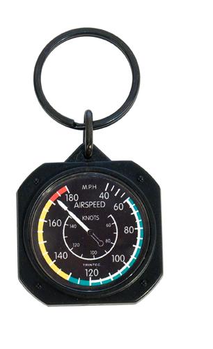 Airspeed Instrument Style Keychain | 1.5 inch