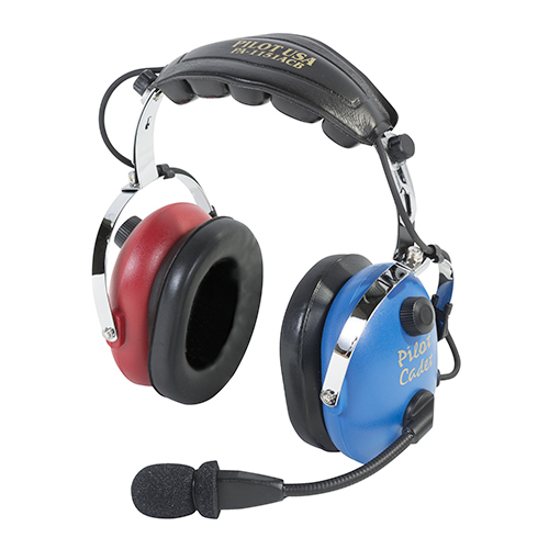 PA-1151ACB Child Passive Headset | Cadet Blue & Red