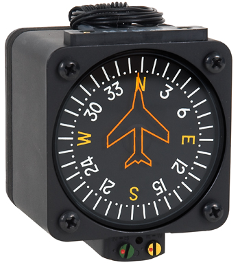 VERTICAL CARD COMPASS 5V/RED