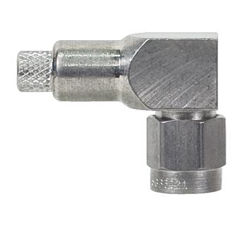 CONNECTOR/SMA, male, right angle, crimp, RG142
