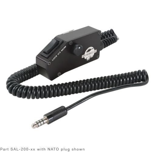 DROP CORD/NATO plug, volume control, 12 coil cord, ICS switch (Lock-Mom)