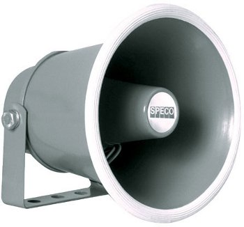 """Speco 6"""" Weatherproof PA Speaker Horn"""