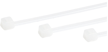 Standard Cable Ties | 18 lb, 8in long, White