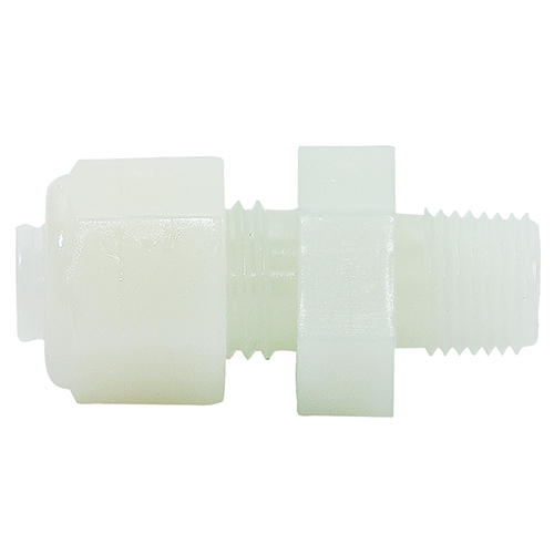 NYLO-Seal Male Connector | Fits 1/4in Tubing, 1/8in Pipe Thread